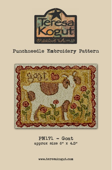 click here to view larger image of Goat - Punch Needle (Punchneedle)