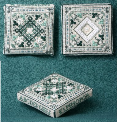 click here to view larger image of Tiny Shamrock Pin Cushion (counted cross stitch kit)