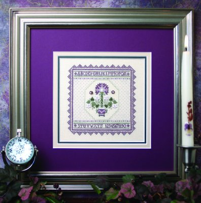 click here to view larger image of Lavender Carnation Sampler (counted cross stitch kit)