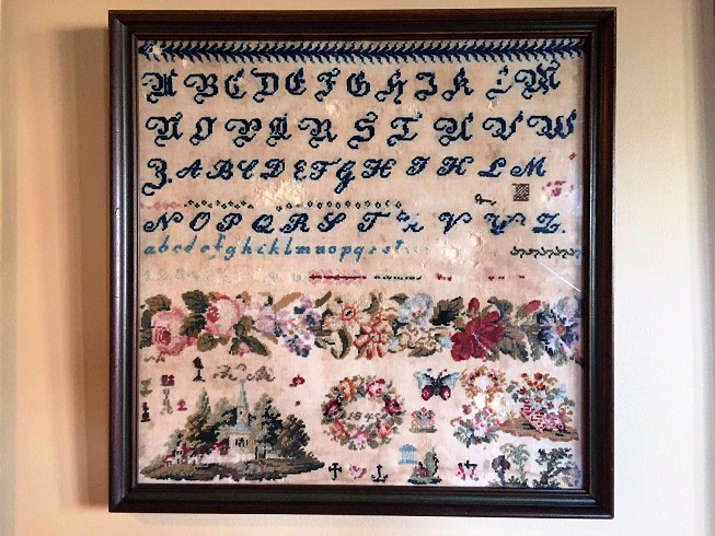 click here to view larger image of Band Of Roses 1845 Antique Sampler (chart)