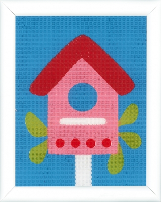 click here to view larger image of Bird House Canvas Kit (needlepoint)