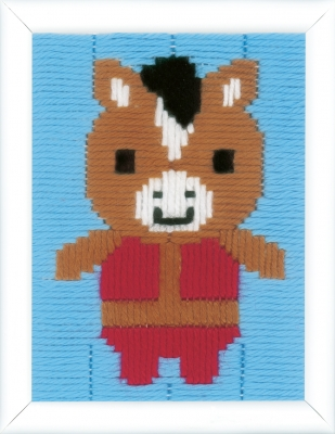 click here to view larger image of Donkey Long Stitch (needlepoint)