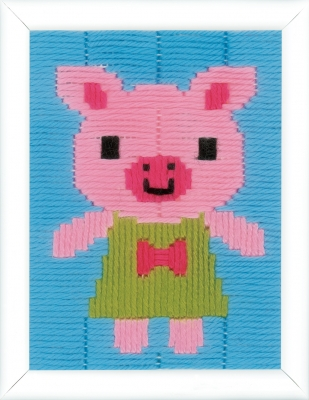 click here to view larger image of Pig In A Dress Long Stitch (needlepoint)