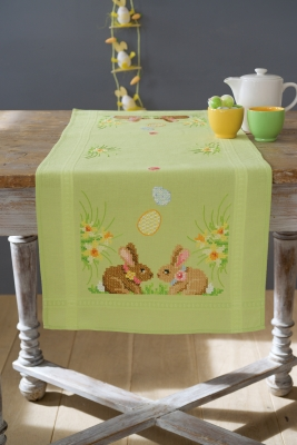 click here to view larger image of Easter Bunny Table Runner (counted cross stitch kit)