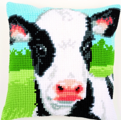 click here to view larger image of Cow Cushion (needlepoint)