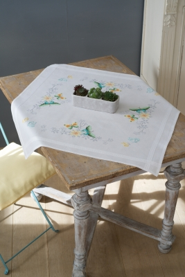click here to view larger image of Butterflies And Flowers Tablecloth (stamped cross stitch kit)