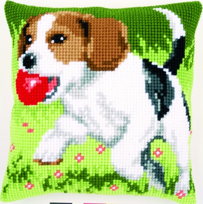 click here to view larger image of Beagle Cushion (needlepoint)