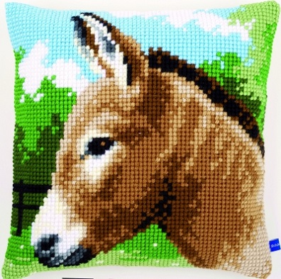 click here to view larger image of Donkey Cushion (needlepoint)