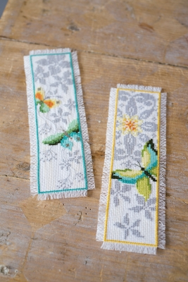 click here to view larger image of Butterfly Bookmarks (Set of 2) (counted cross stitch kit)