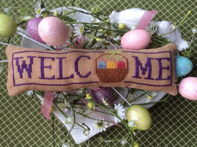 click here to view larger image of April Easter Basket - Wee Welcome (chart)