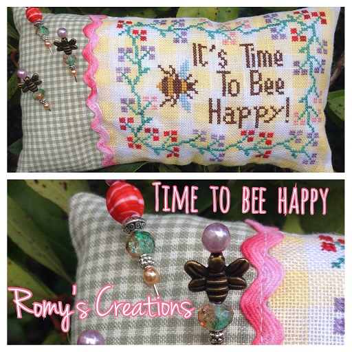 click here to view larger image of Time To Bee Happy (chart with charms/buttons)