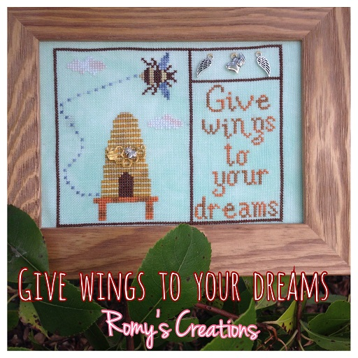 click here to view larger image of Give Wings To Your Dreams (chart with charms/buttons)