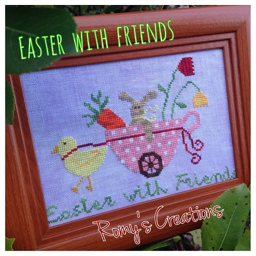 click here to view larger image of Easter With Friends (chart with charms/buttons)