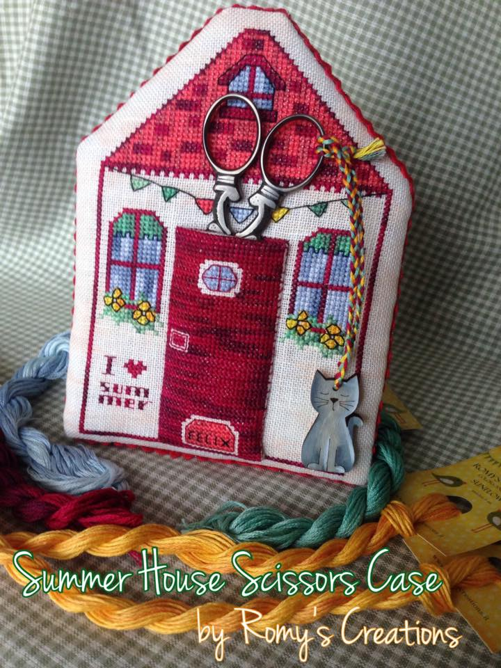 click here to view larger image of Summer House Scissor Case (chart with charms/buttons)