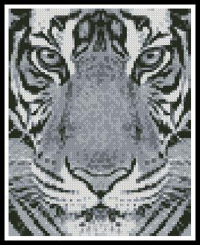 click here to view larger image of Mini Bengal Tiger Black and White  (Neosiam) (chart)