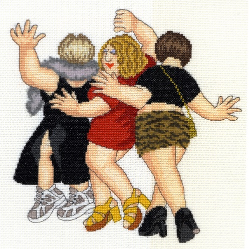 click here to view larger image of Girls Night Out (counted cross stitch kit)