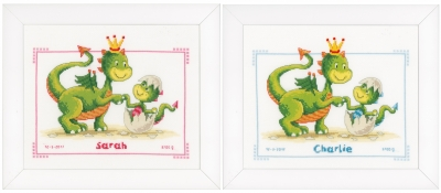 click here to view larger image of Dragons Birth Announcement (counted cross stitch kit)
