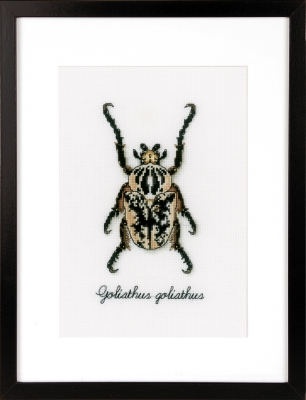 click here to view larger image of Beige Beetle (counted cross stitch kit)
