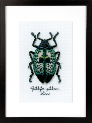 click here to view larger image of Blue Beetle (counted cross stitch kit)
