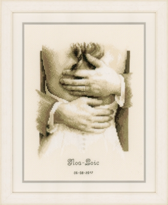click here to view larger image of Newlyweds - Wedding Announcement (counted cross stitch kit)