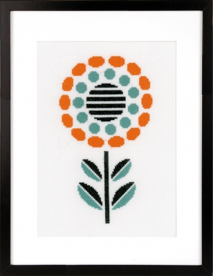 click here to view larger image of Abstract Flower (counted cross stitch kit)
