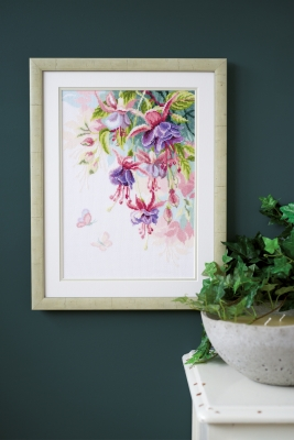 click here to view larger image of Fuchsias (counted cross stitch kit)
