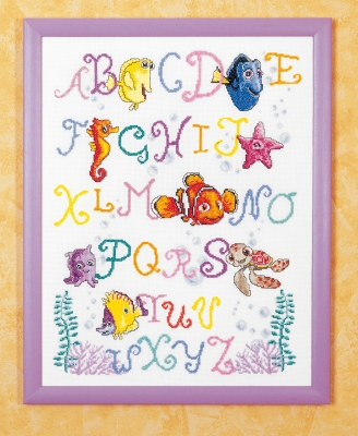 click here to view larger image of Nemo Alphabet (counted cross stitch kit)