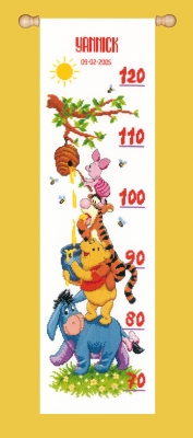 click here to view larger image of Winnie The Pooh and Friends Height Chart (counted cross stitch kit)