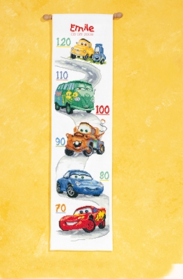 click here to view larger image of Cars Height Chart  (counted cross stitch kit)