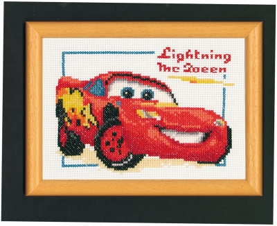 click here to view larger image of Lightning McQueen (counted cross stitch kit)