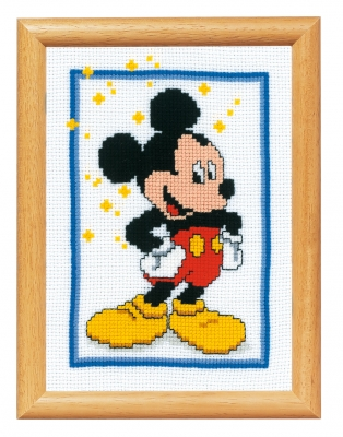 click here to view larger image of Mickey Mouse (counted cross stitch kit)