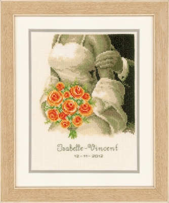 click here to view larger image of Wedding Bouquet Announcement (counted cross stitch kit)