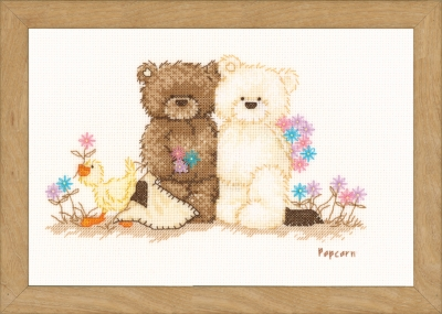 click here to view larger image of Friends (counted cross stitch kit)