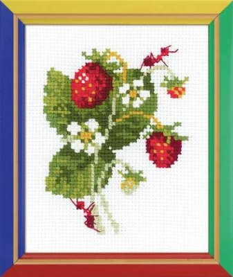 click here to view larger image of Wild Strawberry (counted cross stitch kit)