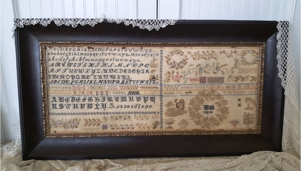 click here to view larger image of BG 1874 Reproduction Sampler (chart)