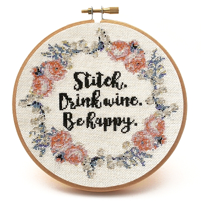 click here to view larger image of Stitch and Drink Wine (chart)