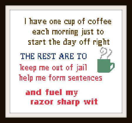 click here to view larger image of One Cup Of Coffee (chart)