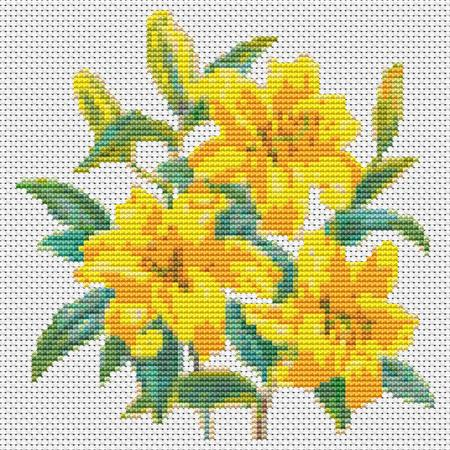 click here to view larger image of Trio Of Yellow Tulips, A (chart)