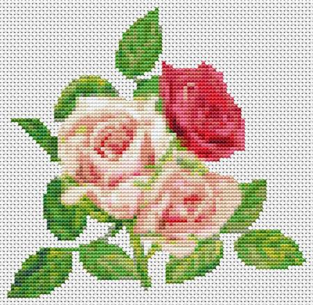 click here to view larger image of Trio Of Pink Roses, A (chart)