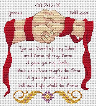 Handfasting Keepsake - click here for more details about chart