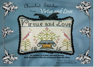 click here to view larger image of Virtue And Love - Limited Edition Kit (counted cross stitch kit)