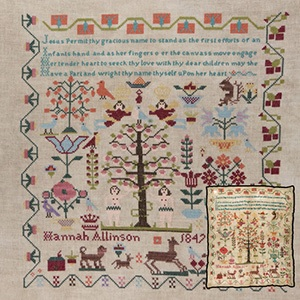 click here to view larger image of Hannah Allinson Sampler 1847 (chart)