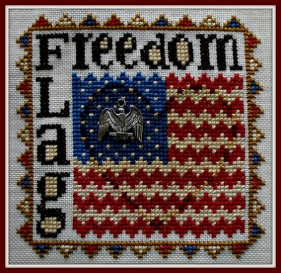 click here to view larger image of Freedom Flag - Wordplay (chart with charms/buttons)