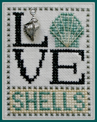 click here to view larger image of Love Shells - Love Bits (chart with charms/buttons)