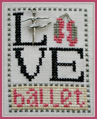 click here to view larger image of Love Ballet - Love Bits (chart with charms/buttons)