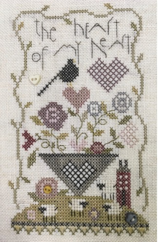 click here to view larger image of Heart Of My Heart (counted cross stitch kit)
