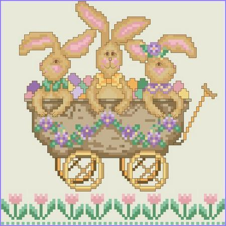 click here to view larger image of All Aboard! The Bunny Express (chart)