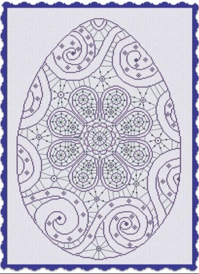 click here to view larger image of Easter In Lace (chart)