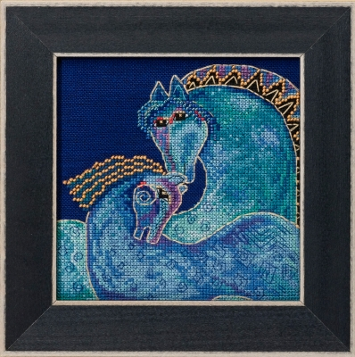 click here to view larger image of Mediterranean Mares - Horses Collection (Linen) (counted cross stitch kit)