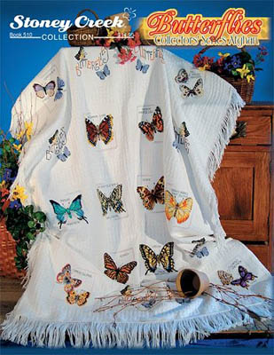 click here to view larger image of Butterflies Collectors Afghan (book)